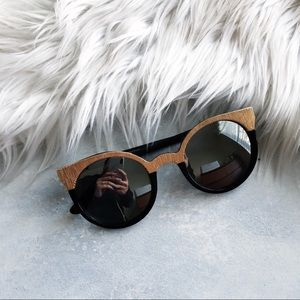 Nasty Gal Black and Gold Sunnies